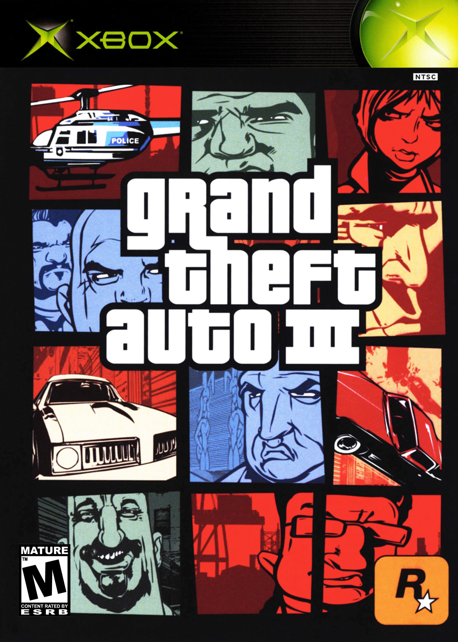 Grand Theft Auto III Xbox Cover