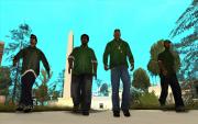 Ryder, Big Smoke, CJ und Sweet kurz vor dem Drive-by