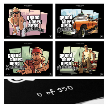 Grand Theft Auto: San Andreas - Limited Edition Lithographien
